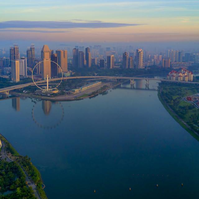 """Marina Bay Skyline"" stock image"