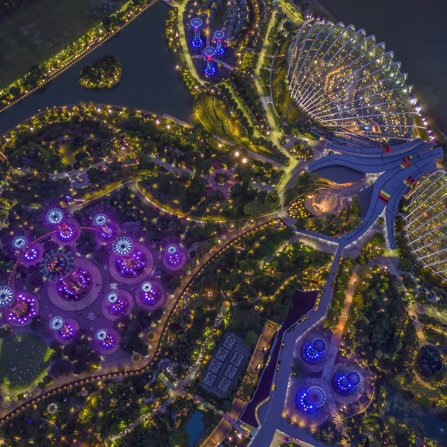 """""""Gardens By The Bay at Night 01"""" stock image"""