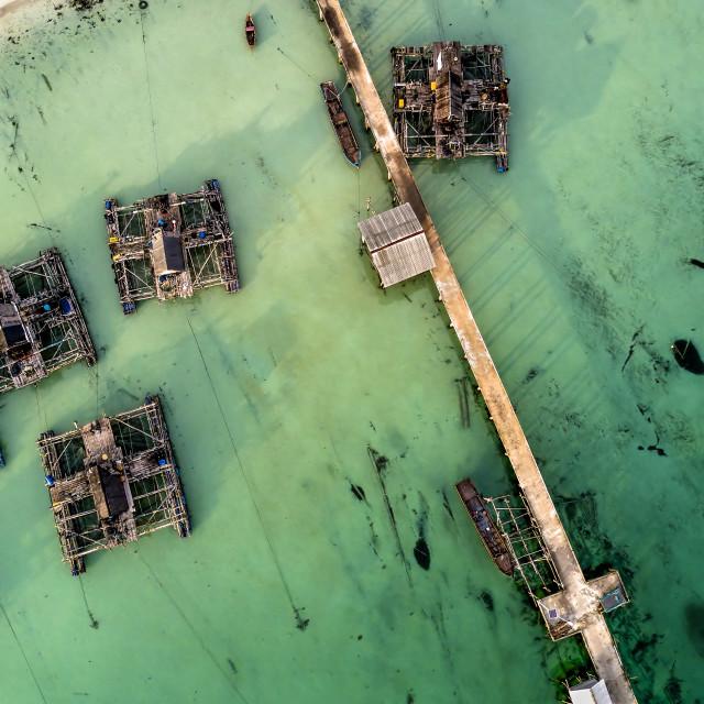 """""""Bintan Mobile Platforms for Fishing 01"""" stock image"""