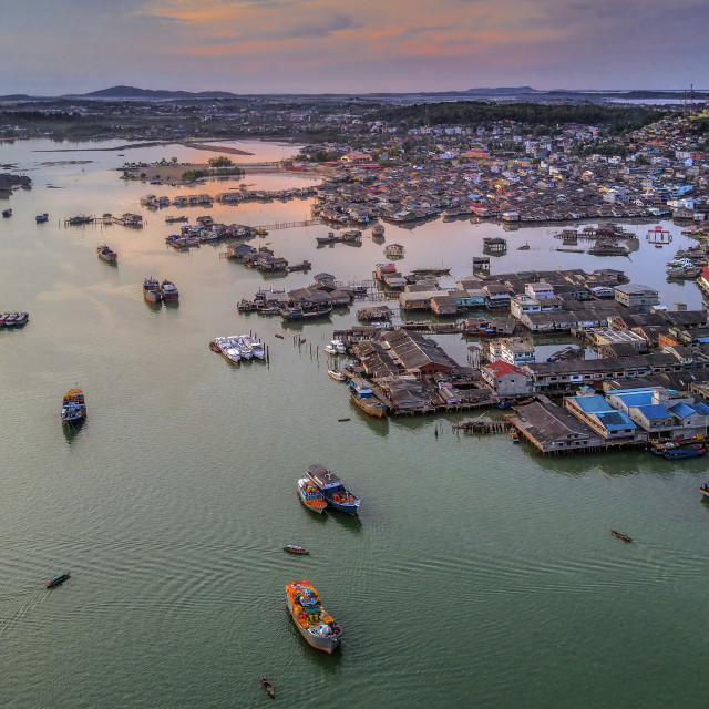 """Tanjung Pinang View from the Sky 01"" stock image"