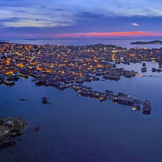 """Tanjung Pinang View from the Sky 02"" stock image"