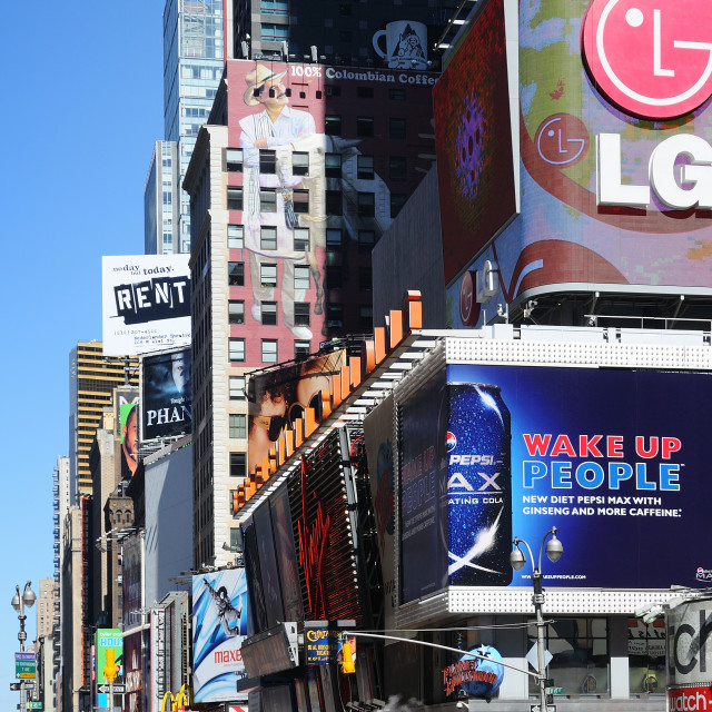 """Good morning Times Square"" stock image"