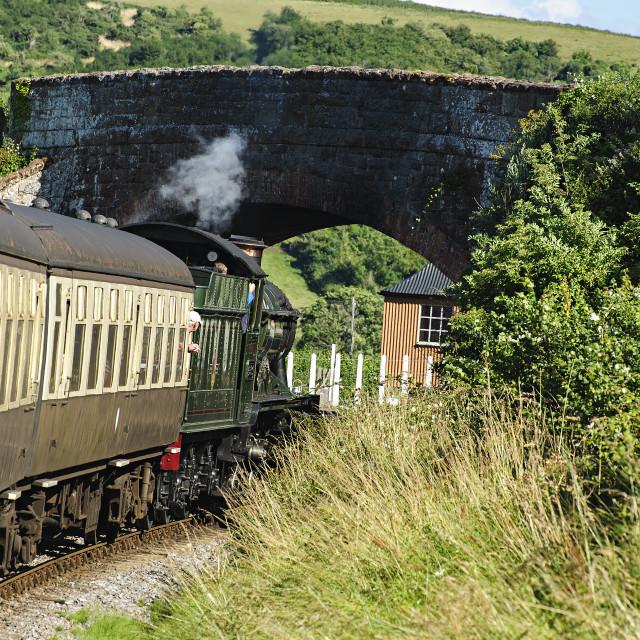 """West Somerset Railway"" stock image"