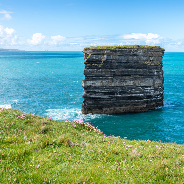 """Sea Stack, Downpatrick Head, Co Mayo, Ireland"" stock image"