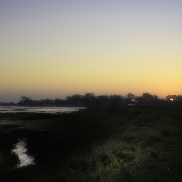 """Sunrise Landermere Quay"" stock image"