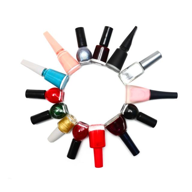 """""""nail polish circle"""" stock image"""