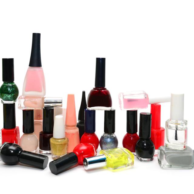 """""""nail polish background"""" stock image"""