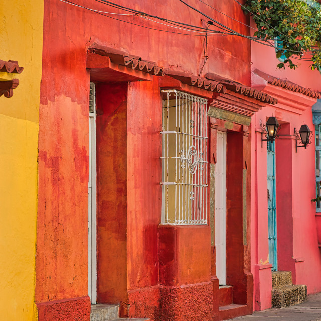 """""""Colorful Buildings in Cartagena"""" stock image"""