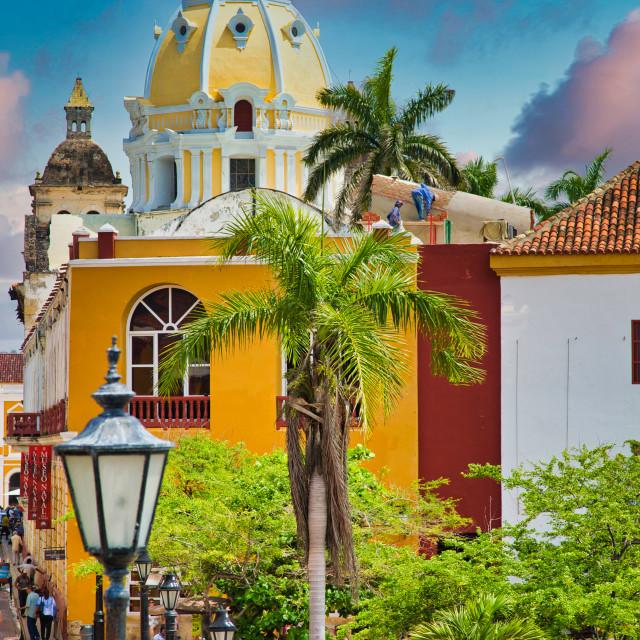 """Cartagena City Scene"" stock image"