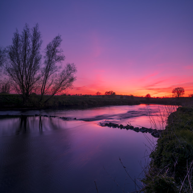 """""""Red Sky at Night"""" stock image"""