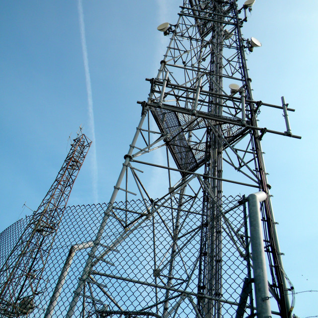 """communications aerials"" stock image"