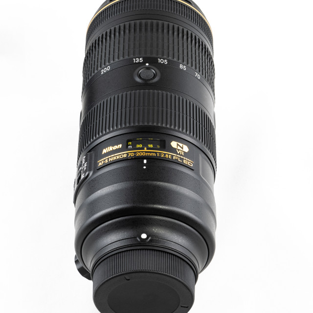 """Nikon 70mm - 200mm Zoom Lens for DSLR Camera"" stock image"