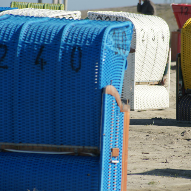 """""""Gathering of the beach chairs"""" stock image"""