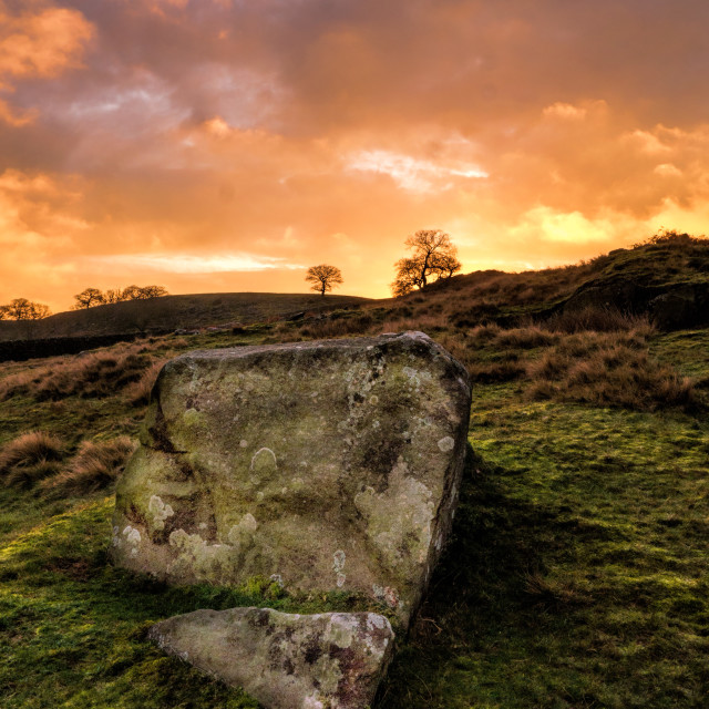 """Rock at Chatsworth"" stock image"