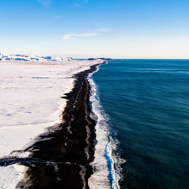 """WINTER ICELAND COAST"" stock image"