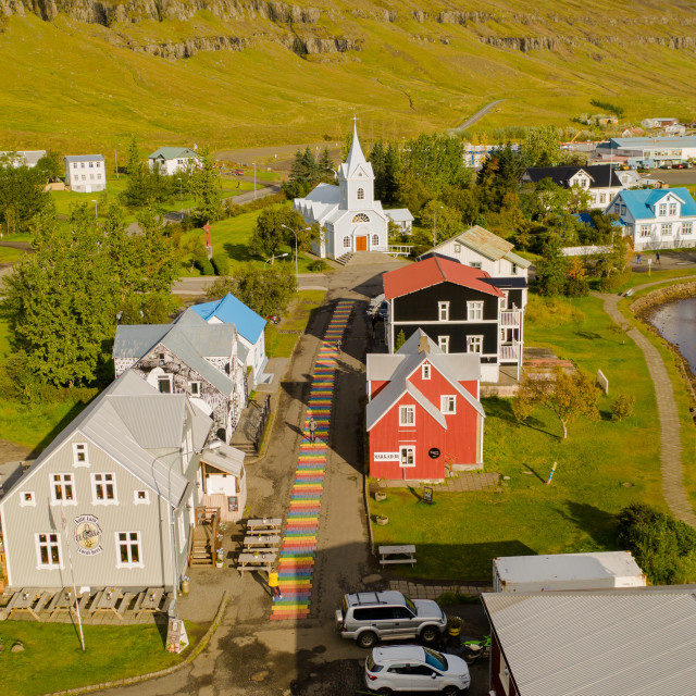 """""""Seyðisfjörður (Iceland)"""" stock image"""
