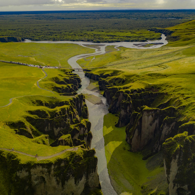 """CANYON IN ICELAND"" stock image"