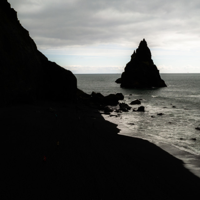 """BLACK BEACH ICELAND"" stock image"