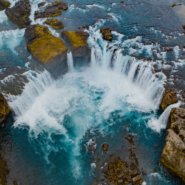 """GODAFOSS WATERFALL IN ICELAND."" stock image"