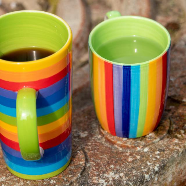 """Rainbow Mugs"" stock image"