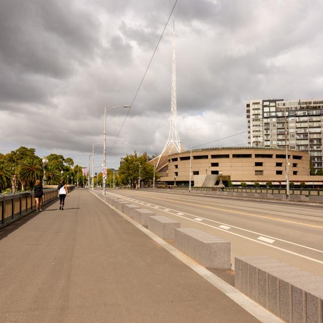 """Coronavirus Crisis in Melbourne, Melbourne, Australia"" stock image"