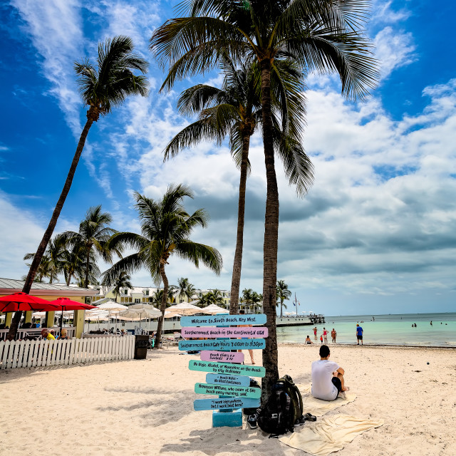 """South Beach Key West Florida"" stock image"