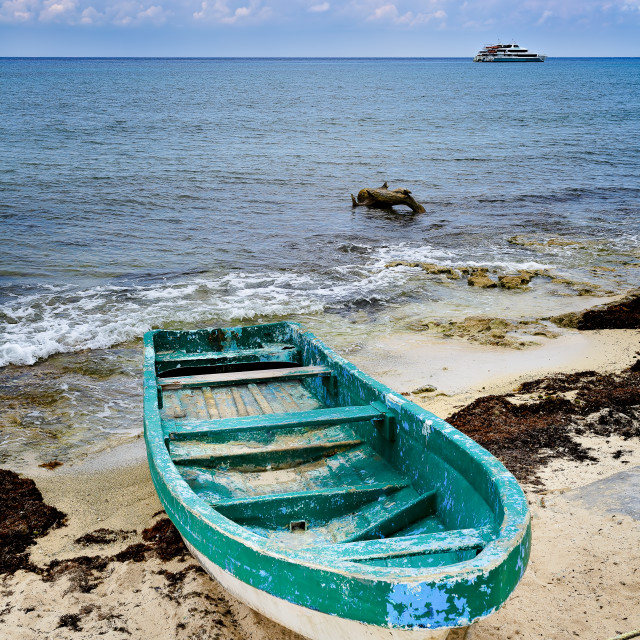 """""""Boat on the Beach"""" stock image"""
