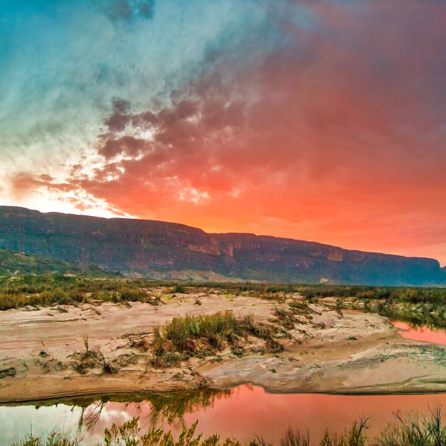 """Desert Sunset Drama"" stock image"