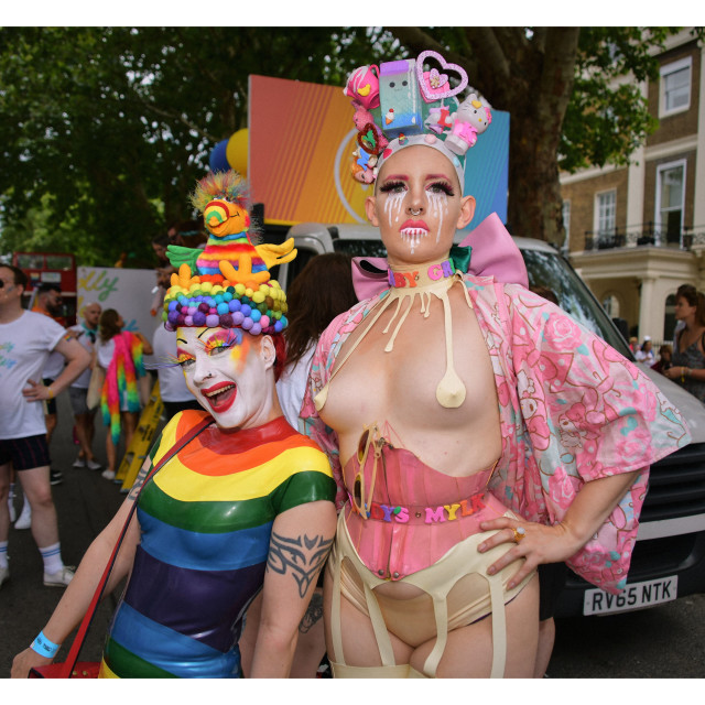 """Pride London 2019 Portrait"" stock image"