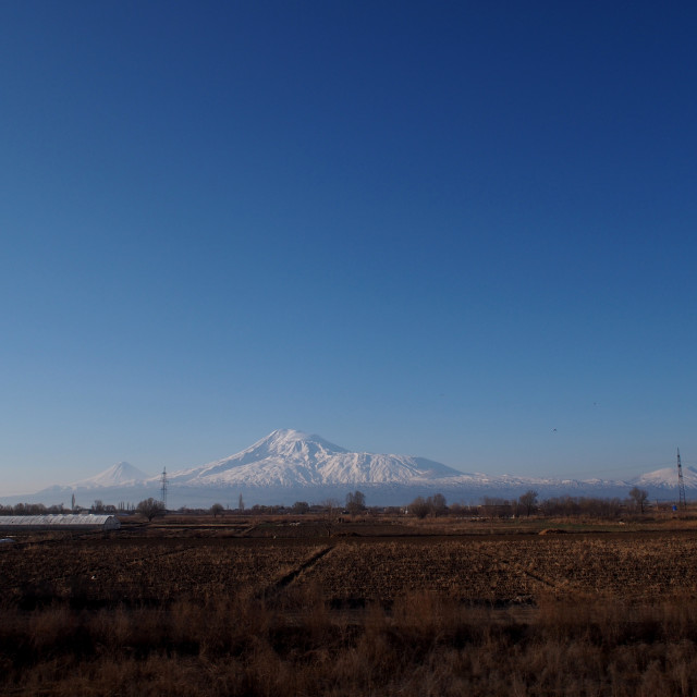 """Mount Ararat from Armenia"" stock image"