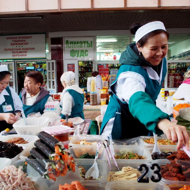 """""""Green Bazaar - Almaty, Kazakhstan"""" stock image"""