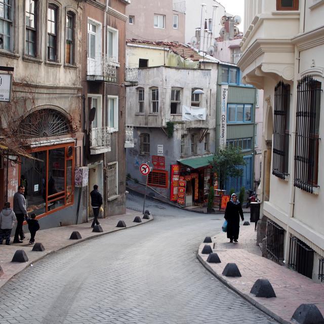 """""""Cihangir, Istanbul"""" stock image"""