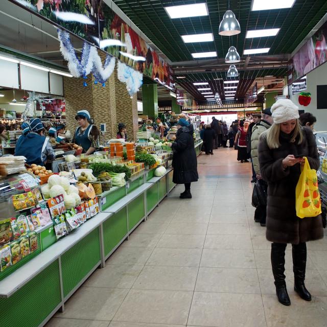 """Market in Yoshkar-Ola"" stock image"
