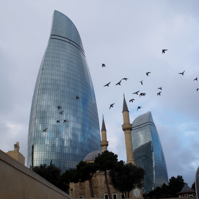 """Flame Towers - Baku, Azerbaijan"" stock image"