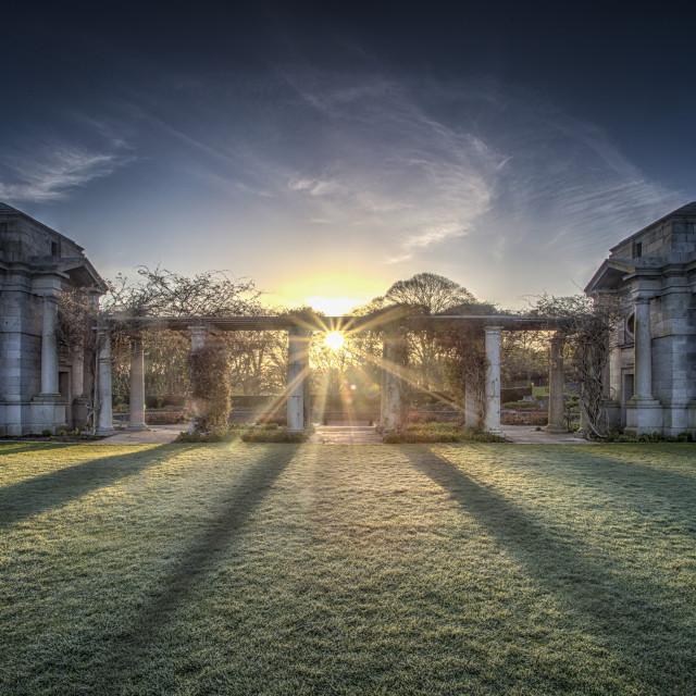"""Sunrise in the Memorial Garden"" stock image"