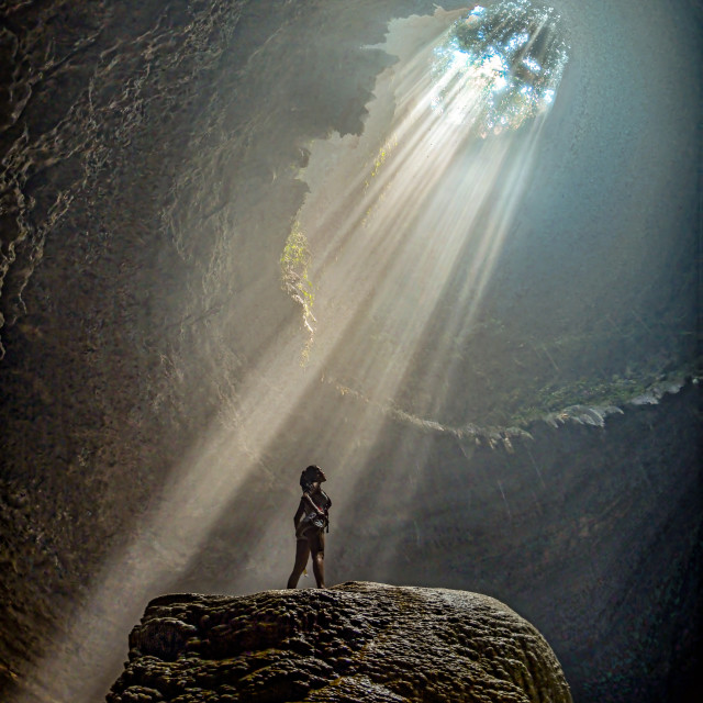 """Jomblang Cave 01"" stock image"