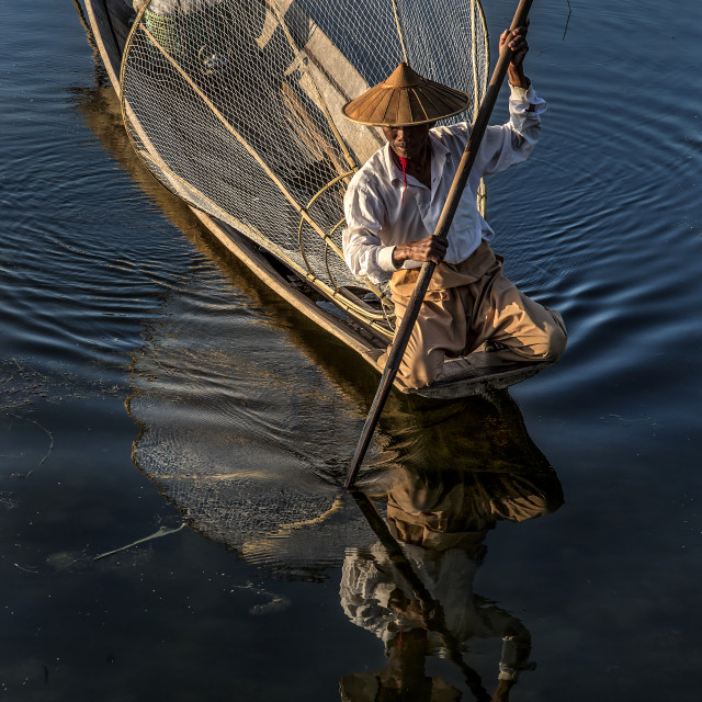 """Inle Boatman 01"" stock image"