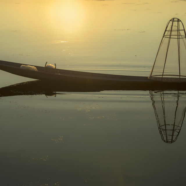 """Inle Boatman 02"" stock image"