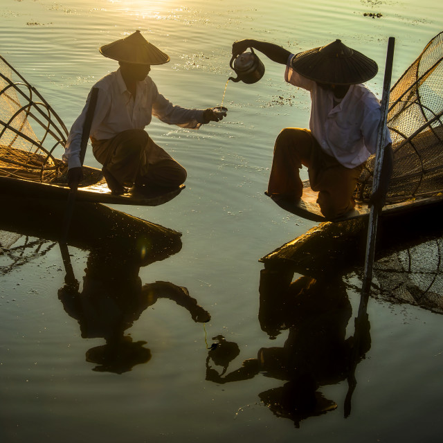 """Inle Boatman 05"" stock image"