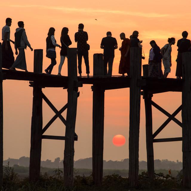 """U Bein Bridge 02"" stock image"