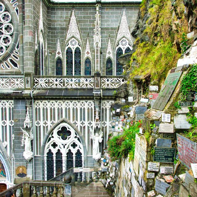 """""""Las Lajas Sanctuary Architectural Detail"""" stock image"""