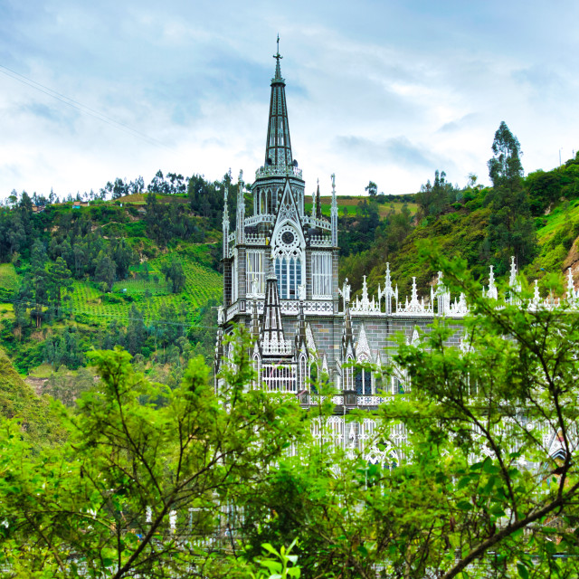 """Church in Rainforest Paradise"" stock image"