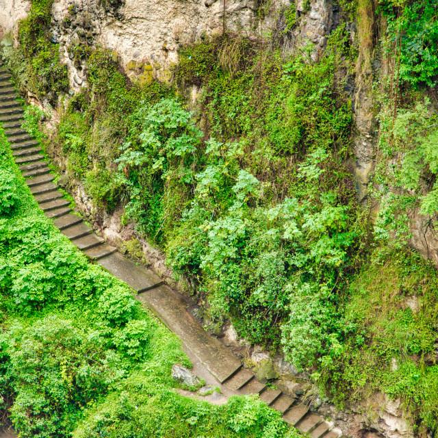 """""""Stone Steps To Paradise"""" stock image"""