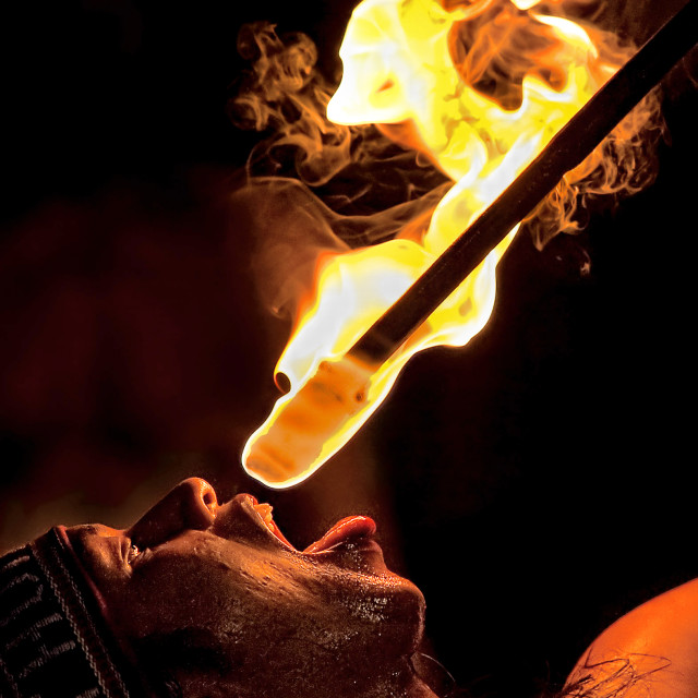 """""""Fire Eater 02"""" stock image"""