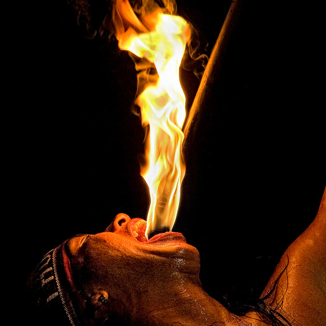 """""""Fire Eater 03"""" stock image"""