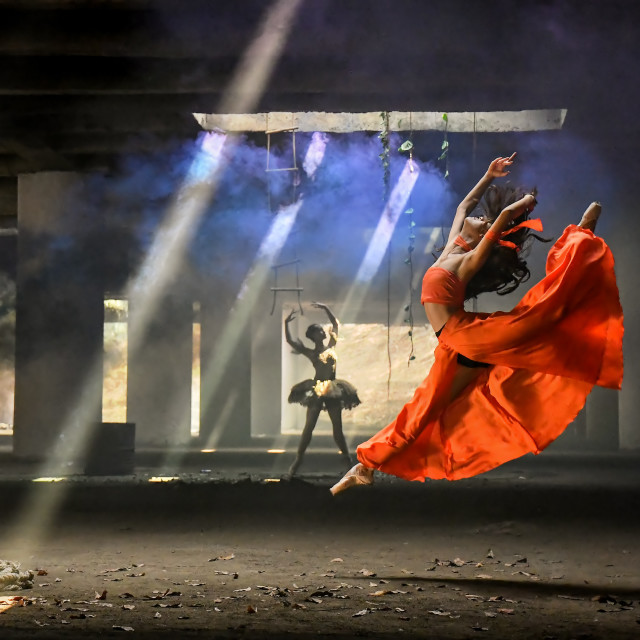 """""""The Dancers 02"""" stock image"""