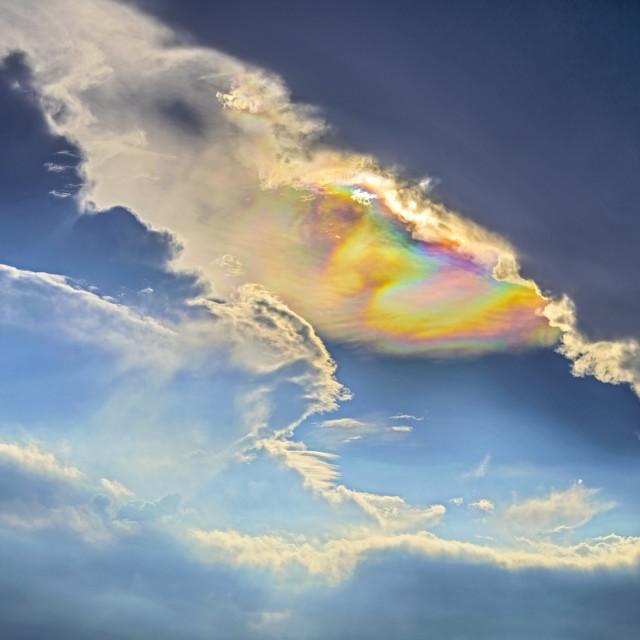 """Cloud Iridescence"" stock image"