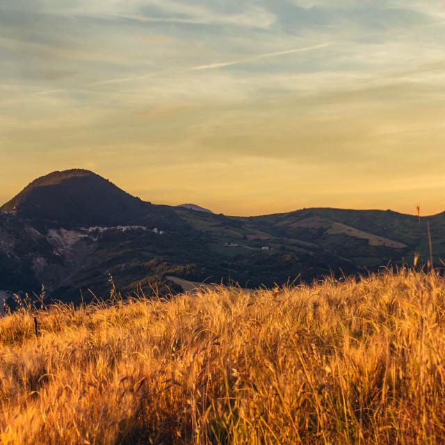 """""""Sunrise in Abruzzo"""" stock image"""