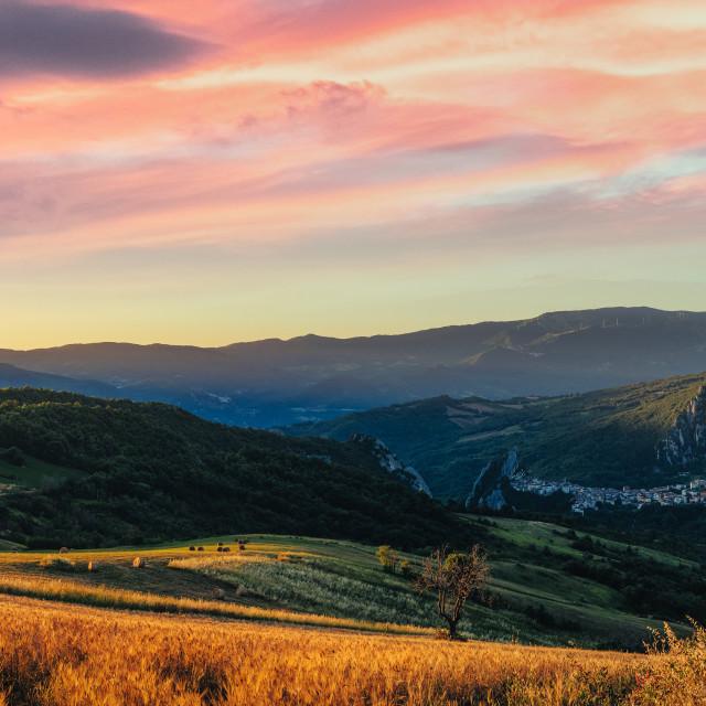 """Amazing sunrise in Abruzzo"" stock image"