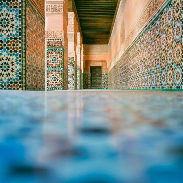 """""""Beautiful Tiled Floor in Marrakech"""" stock image"""